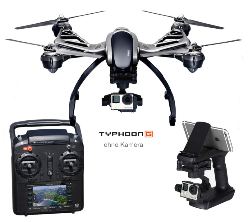 Yuneec typhoon g copter rtf con gimbal per gopro 3 4 - Er finestra android ...